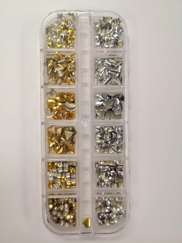 12-style Metal Studs (with case)