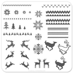 Stamping Plate Small - Christmas Sweater CJSC-02