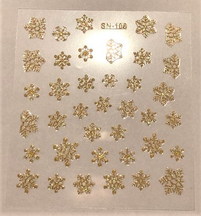 Decals - Gold snowflakes