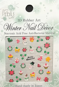 3D Decal - Wreaths & Cupcakes