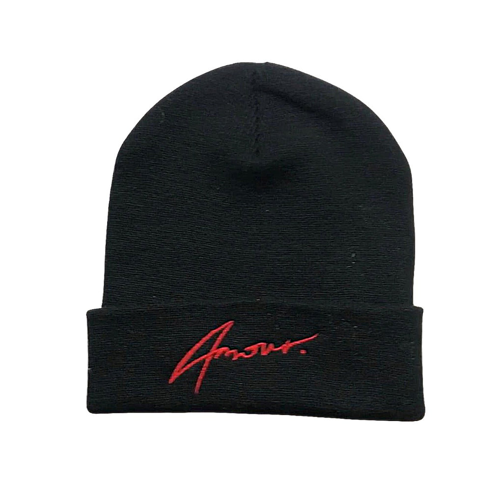 Black and Red Signature Beanie
