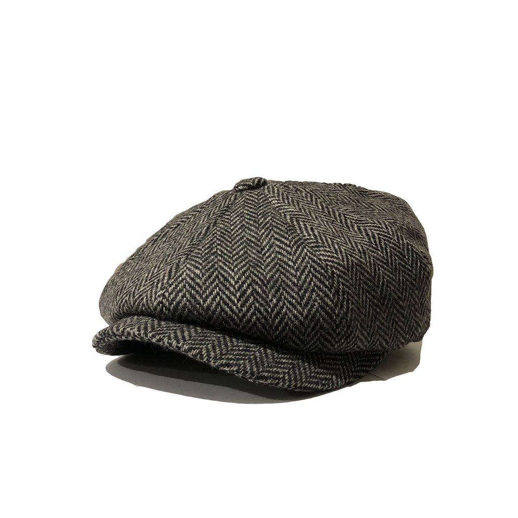 Amour Herringbone Wool Baker Boy Cap