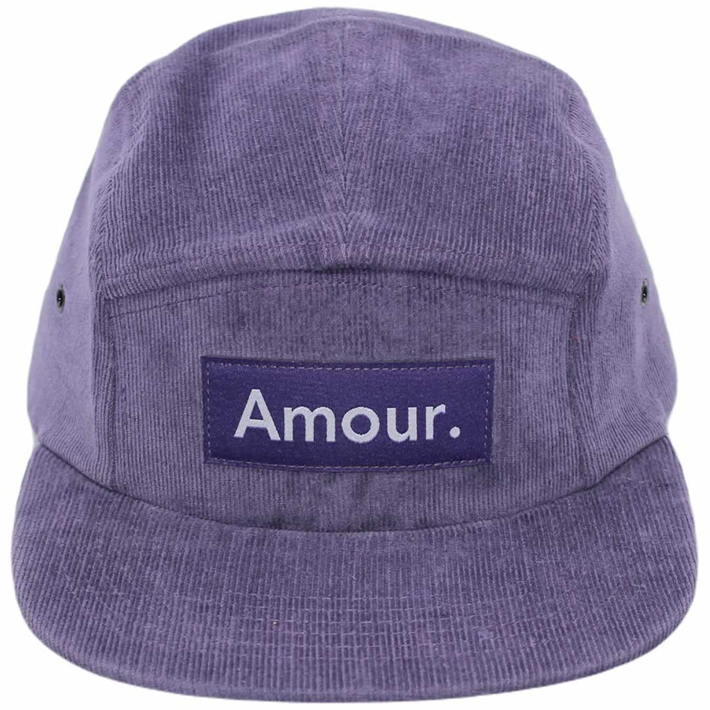 Amour Purple Corduroy 5 Panel Cap