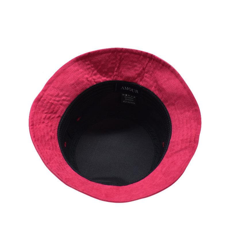 Amour Ruby Red Suede Bucket Hat