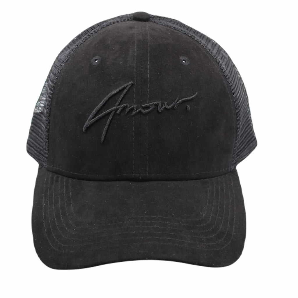 AMOUR Signature Suede Black on Black Trucker