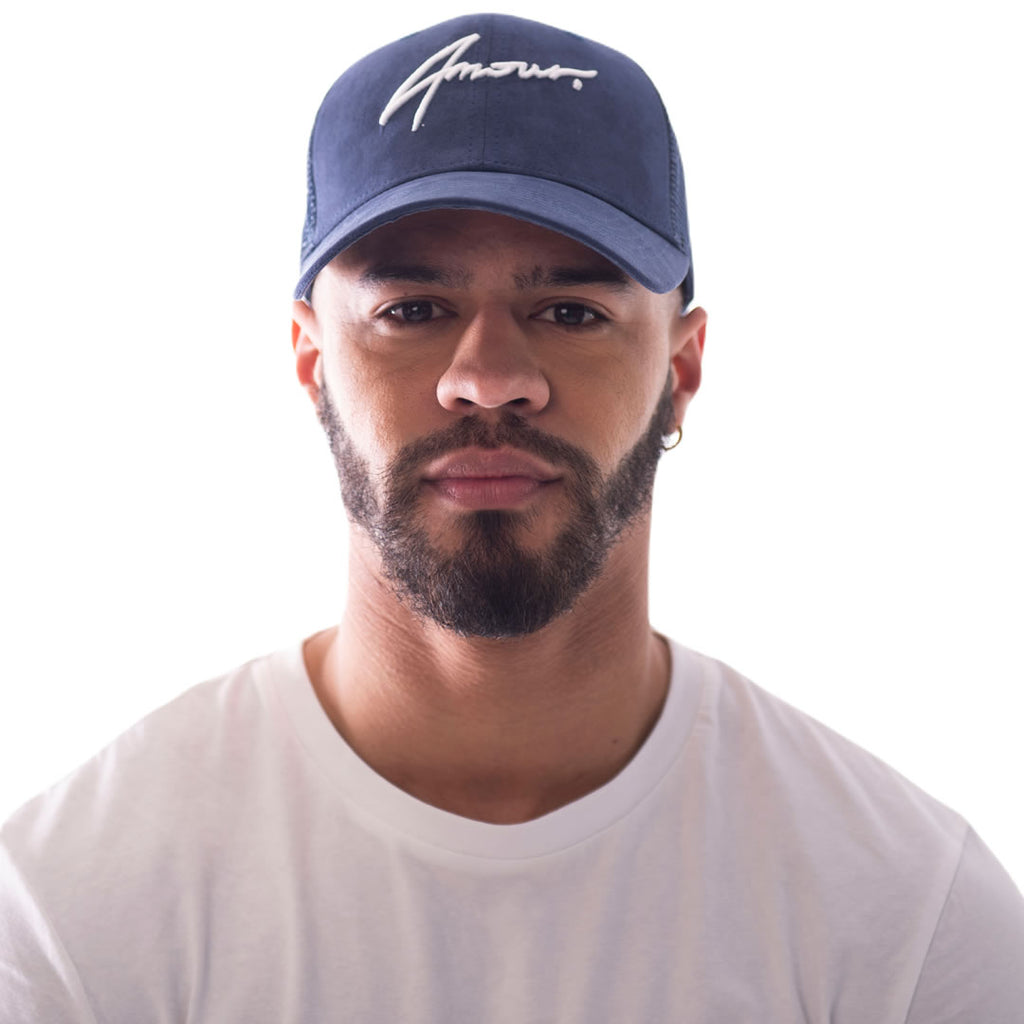 AMOUR Signature Suede Navy Trucker