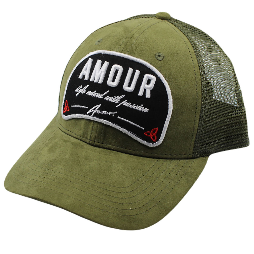 AMOUR Style Suede Khaki Trucker