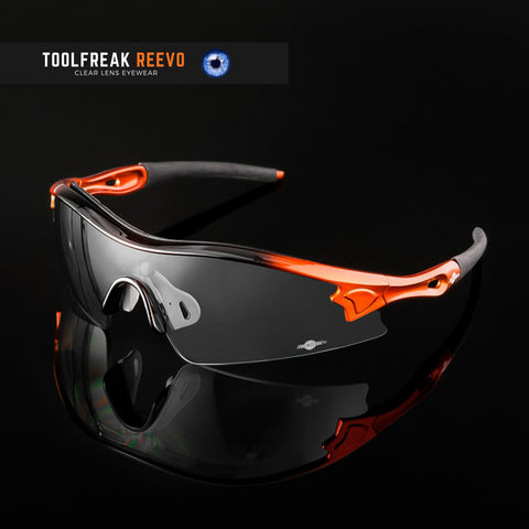 toolfreak reevo safety glasses clear lens