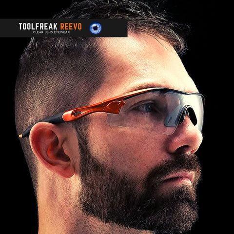 toolfreak reevo safety glasses clear lens 1