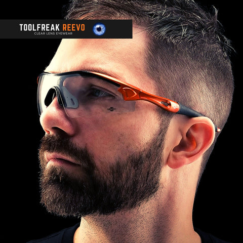 toolfreak reevo safety glasses clear lens 4