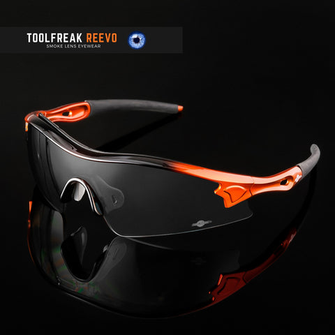 toolfreak reevo safety sunglasses dark smoke lens 8