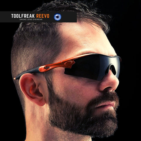 toolfreak reevo safety sunglasses dark smoke lens