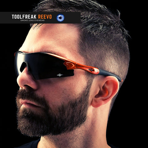 toolfreak reevo safety sunglasses dark smoke lens 3
