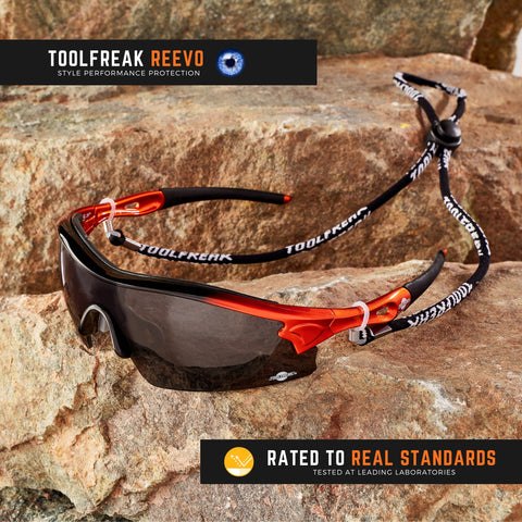 toolfreak reevo safety sunglasses dark smoke lens 1