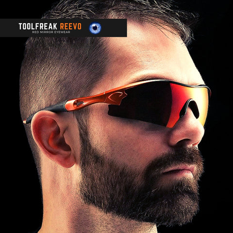 toolfreak safety sunglasses red mirror