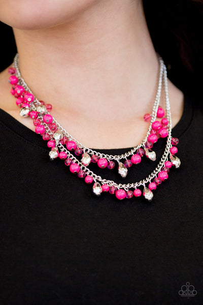Paparazzi Accessories jewelry - www.5dollarstylemaven.com - Mardi Gras Glamour - Pink - Paparazzi Accessories -