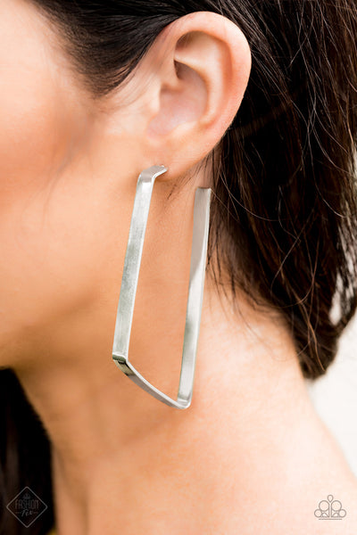 Paparazz Accessories - www.5dollarstylemaven.com - GEO Jam - Silver - Paparazzi Accessories -