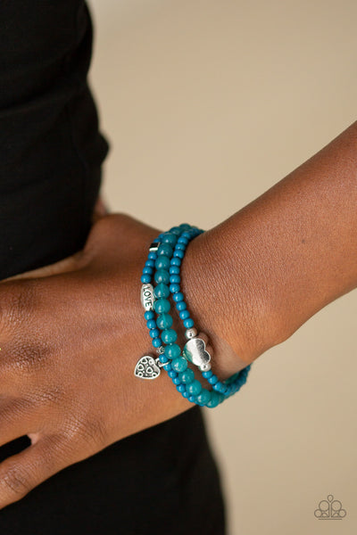 Paparazz Accessories - www.5dollarstylemaven.com - Really Romantic - Blue - Paparazzi Accessories -