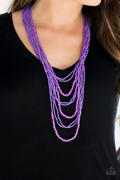 Paparazz Accessories - www.5dollarstylemaven.com - Totally Tonga - Purple - Paparazzi Accessories -