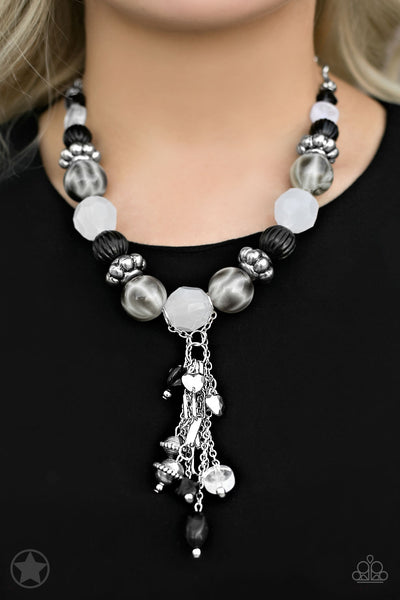 Paparazzi Accessories jewelry - www.5dollarstylemaven.com - Break a Leg - Black/White - Paparazzi Accessories -
