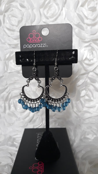 Paparazz Accessories - www.5dollarstylemaven.com - Chandelier earrings - Blue - Paparazzi Accessories -