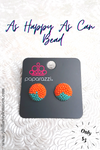 As Happy  As Can BEAD - Orange Blue - Paparazzi Accessories