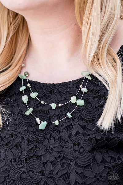 Paparazzi Accessories jewelry - www.5dollarstylemaven.com - Pebble Posh - Green - Paparazzi Accessories -