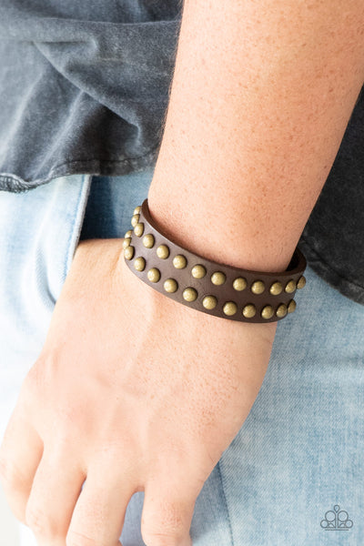 Paparazz Accessories - www.5dollarstylemaven.com - Biker Bold - Brown - Paparazzi Accessories -