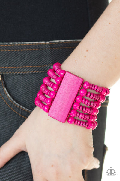 Paparazz Accessories - www.5dollarstylemaven.com - Don't Stop BELIZE-ing - Pink -