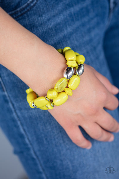 Paparazz Accessories - www.5dollarstylemaven.com - Fruity Flavor - Yellow -