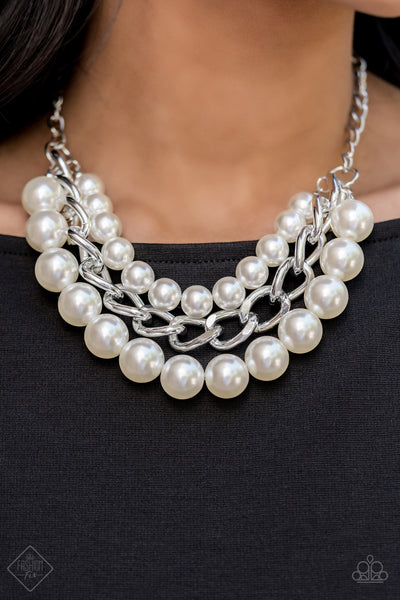 Paparazz Accessories - www.5dollarstylemaven.com - Empire State Empress - Pearl - Paparazzi Accessories -