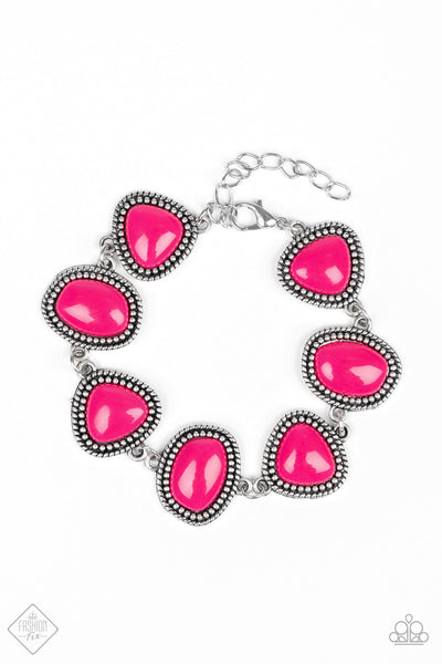 Paparazz Accessories - www.5dollarstylemaven.com - Vividly Vixen - Pink - Paparazzi Accessories -