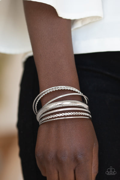 Paparazz Accessories - www.5dollarstylemaven.com - CLIQUE Here - Silver - Paparazzi Accessories -