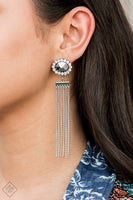 Paparazz Accessories - www.5dollarstylemaven.com - Tassel Throwback - Silver - Paparazzi Accessories -
