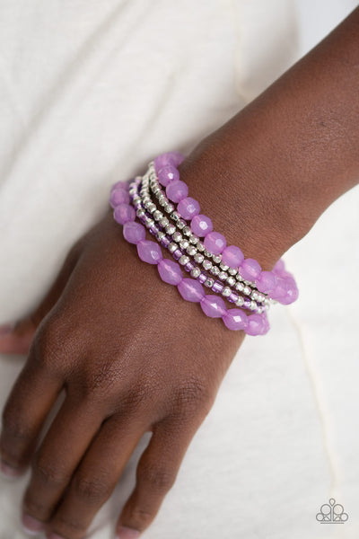 Paparazz Accessories - www.5dollarstylemaven.com - Sugary Sweet - Purple - Paparazzi Accessories -