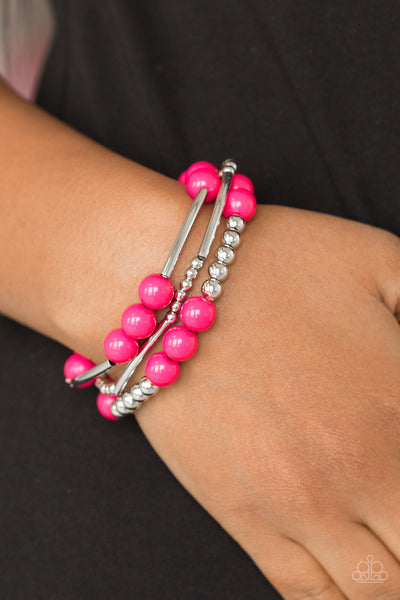 Paparazz Accessories - www.5dollarstylemaven.com - New Adventures - Pink - Paparazzi Accessories -