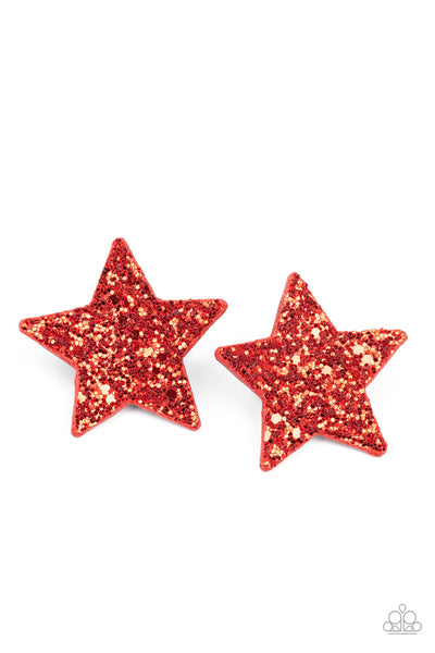 Paparazz Accessories - www.5dollarstylemaven.com - Star-Spangled Superstar - Red - Paparazzi Accessories -