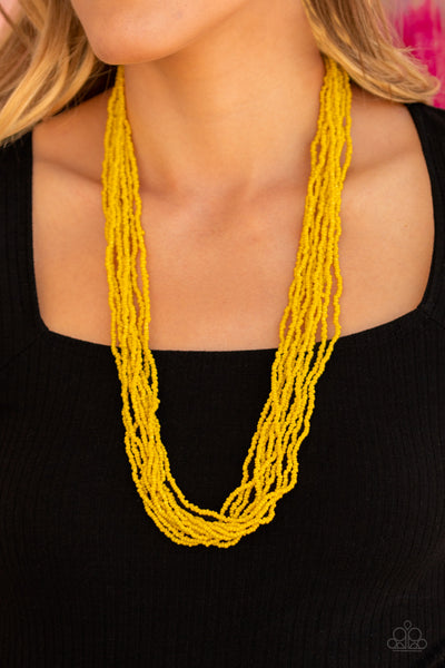 Paparazz Accessories - www.5dollarstylemaven.com - Congo Colada - Yellow - Paparazzi Accessories -