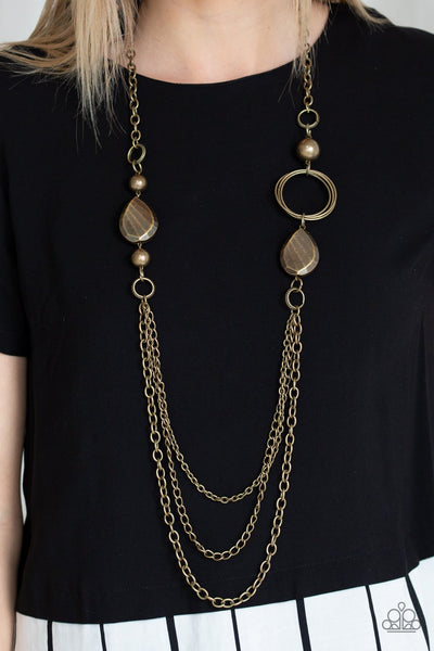 Paparazz Accessories - www.5dollarstylemaven.com - Rebels Have More Fun - Brass -