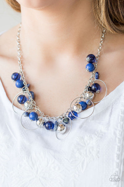 Paparazzi Accessories jewelry - www.5dollarstylemaven.com - Mountain Mosaic - Blue - Paparazzi Accessories -