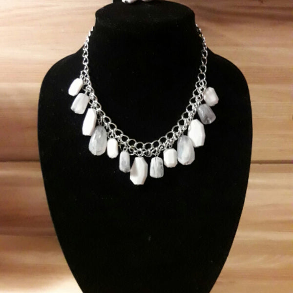 Paparazzi Accessories jewelry - www.5dollarstylemaven.com - Glacier Goddess - White - Paparazzi Accessories -