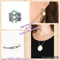 Ivory crackle stone set - The $5 Style Maven boutique