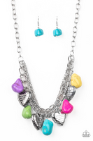 Paparazz Accessories - www.5dollarstylemaven.com - Change of Heart - Multi - Paparazzi Accessories -