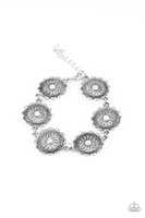 Paparazz Accessories - www.5dollarstylemaven.com - Funky Flower Child - White -