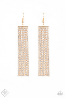 Paparazz Accessories - www.5dollarstylemaven.com - Top- Down Shimmer - Gold - Paparazzi Accessories -