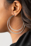 Paparazz Accessories - www.5dollarstylemaven.com - Last HOOP-rah - Silver - Paparazzi Accessories -
