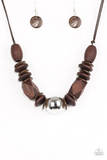 Paparazz Accessories - www.5dollarstylemaven.com - Grand Turks Getaway - Brown -