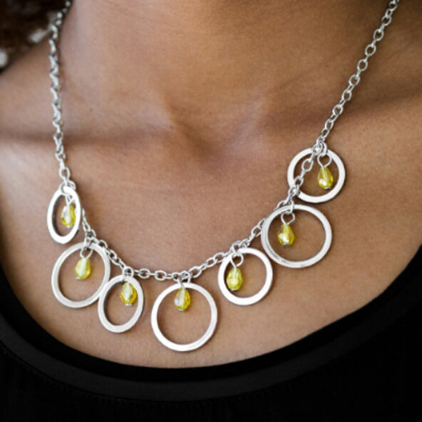 Paparazzi Accessories jewelry - www.5dollarstylemaven.com - Rochester Refinement - Yellow - Paparazzi Accessories -