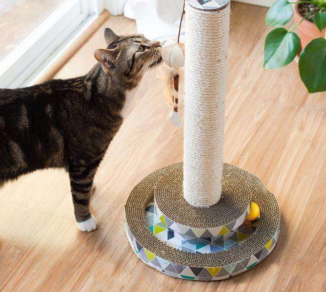 Petstages Scratch and Play Tower Track - pieper tier-gourmet