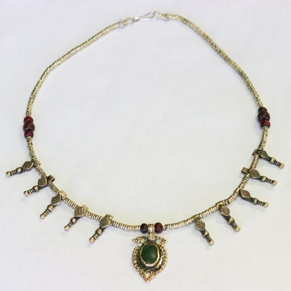 Afghani Centre Point Spike Pendant Necklace